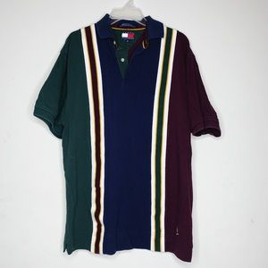 Tommy Himfoger Vintage 90's Striped Polo